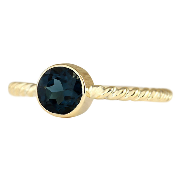 1.00 Carat Natural Topaz 14K Yellow Gold Ring