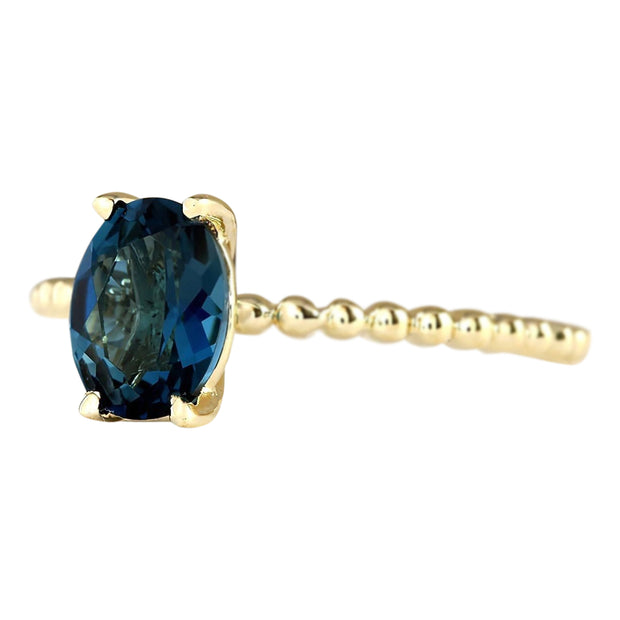 1.39 Carat Natural Topaz 14K Yellow Gold Ring