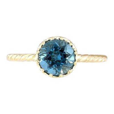 1.50 Carat Natural Topaz 14K Yellow Gold Ring