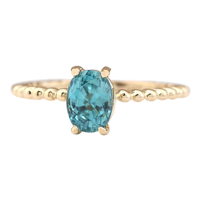 1.80 Carat Natural Zircon 14K Yellow Gold Ring - Fashion Strada