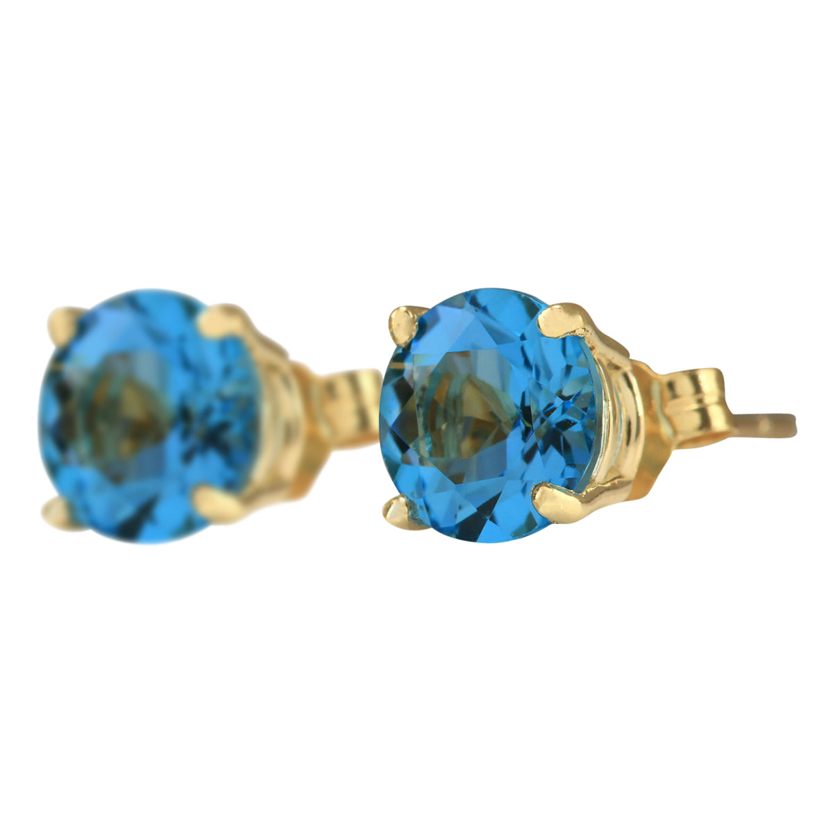 3.00 Carat Natural Topaz 14K Yellow Gold Earrings