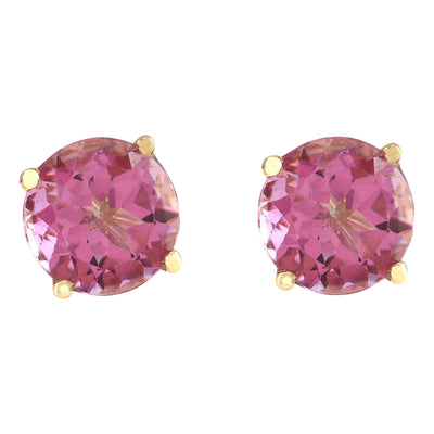 3.00 Carat Natural Tourmaline 14K Yellow Gold Earrings - Fashion Strada
