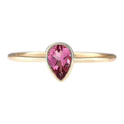 0.50 Carat Natural Tourmaline 14K Yellow Gold Ring