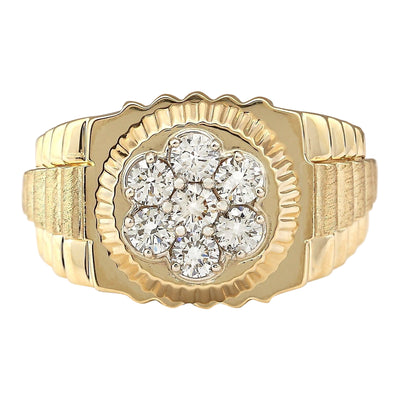 1.00 Carat Natural Diamond 14K Yellow Gold Ring - Fashion Strada
