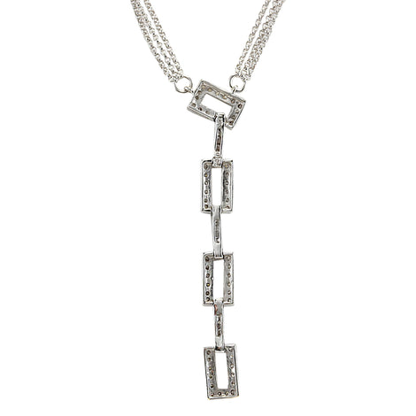 1.04 Carat Natural Diamond 14K White Gold Necklace