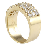 1.40 Carat Natural Diamond 14K Yellow Gold Ring