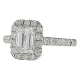 1.61 Carat Natural Diamond 14K White Gold Ring