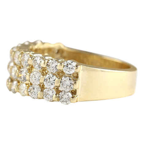 1.75 Carat Natural Diamond 14K Yellow Gold Ring