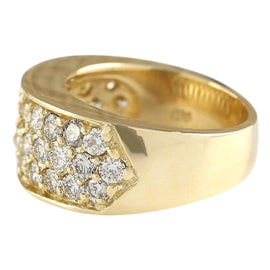 1.35 Carat Natural Diamond 14K Yellow Gold Ring