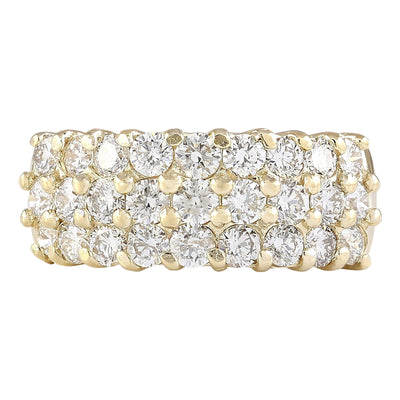 2.00 Carat Natural Diamond 14K Yellow Gold Ring