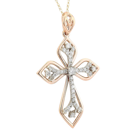 0.70 Carat Natural Diamond 14K Rose Gold Necklace
