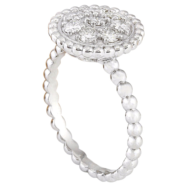 0.55 Carat Natural Diamond 14K Solid White Gold Ring - Fashion Strada