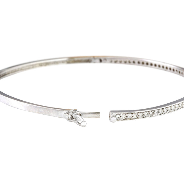 0.25 Carat Natural Diamond 14K Solid White Gold Bracelet - Fashion Strada
