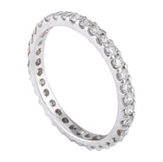 1.00 Carat Natural Diamond 14K Solid White Gold Ring - Fashion Strada