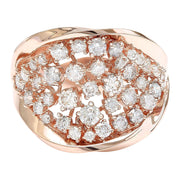 1.40 Carat Natural Diamond 14K Solid Rose Gold Ring - Fashion Strada
