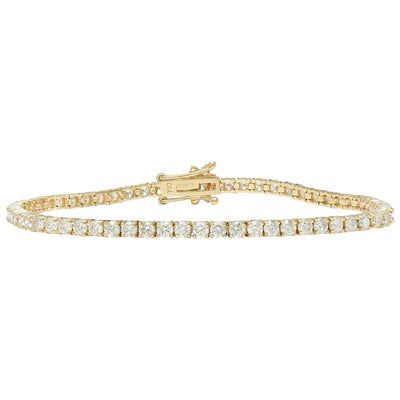 4.68 Carat Natural Diamond 14K Solid Yellow Gold Bracelet
