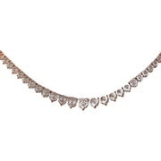 8.45 Carat Natural Diamond 14K Solid White Gold Necklace - Fashion Strada