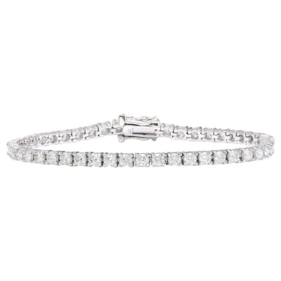5.00 Carat Natural Diamond 14K Solid White Gold Bracelet