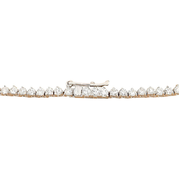 10.00 Carat Natural Diamond 14K Solid White Gold Necklace - Fashion Strada