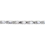 11.10 Carat Natural Tanzanite 14K Solid White Gold Diamond Bracelet