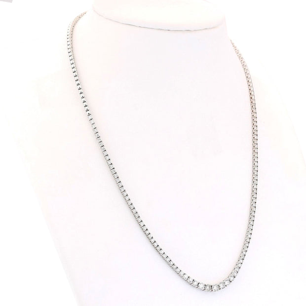 4.50 Carat Natural Diamond 14K Solid White Gold Necklace