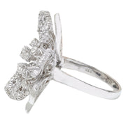 1.50 Carat Natural Diamond 14K Solid White Gold Ring