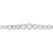 3.50 Carat Natural Diamond 14K Solid White Gold Bracelet - Fashion Strada