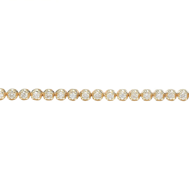 2.38 Carat Natural Diamond 14K Solid Yellow Gold Bracelet - Fashion Strada
