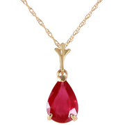 Ladies 14K Solid Gold House of Flesh Ruby Necklace - Fashion Strada