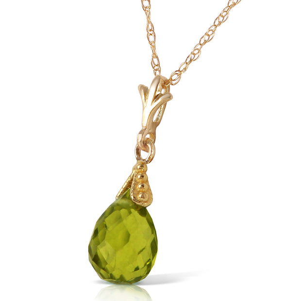 Ladies 14K Solid Gold Ripeness Peridot Necklace - Fashion Strada