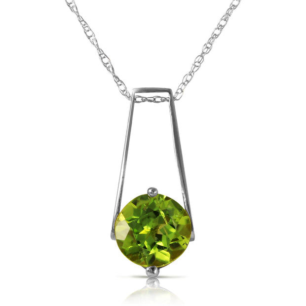 Ladies 14K White Gold In The Hacienda Peridot Necklace - Fashion Strada