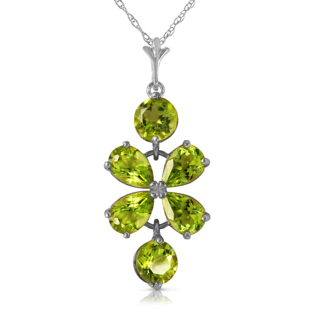 Ladies 14K White Gold Incidental Souls Peridot Necklace - Fashion Strada
