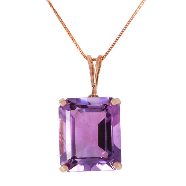 Ladies 14K White Gold Utmost Tenderness Amethyst Necklace - Fashion Strada