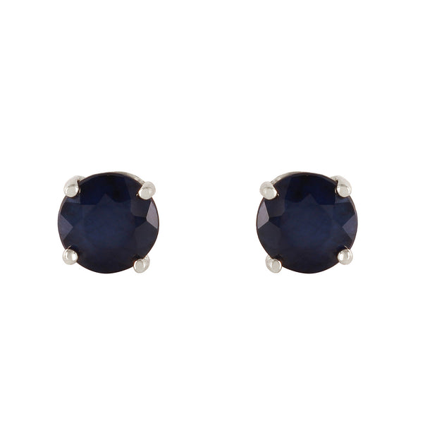 Ladies 14K White Gold In Wonderland Sapphire Earrings - Fashion Strada