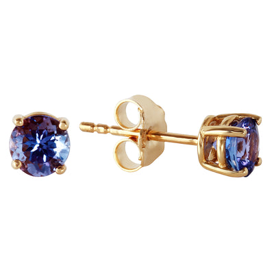 Ladies 14K Solid Gold Joy In Your Eyes Tanzanite Earrings - Fashion Strada