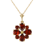 Ladies 14K Solid Gold Balladeer Garnet Necklace - Fashion Strada