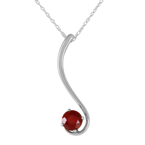 Ladies 14K Solid Gold Not Just Seduction Ruby Necklace - Fashion Strada