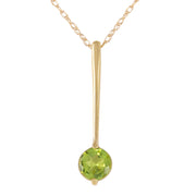 Ladies 14K Solid Gold Piazza Peridot Necklace - Fashion Strada