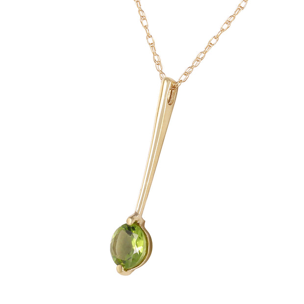 Ladies 14K Solid Gold Piazza Peridot Necklace