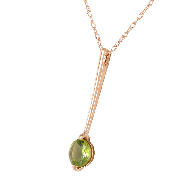 Ladies 14K Rose Gold Piazza Peridot Necklace - Fashion Strada