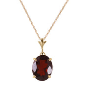 Ladies 14K Yellow Gold Made of Dawn Garnet Necklace - Fashion Strada