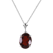 Ladies 14K White Gold Day Will Come Garnet Necklace - Fashion Strada