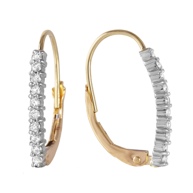Diamond 14K Yellow Gold Ladies Earrings - Fashion Strada