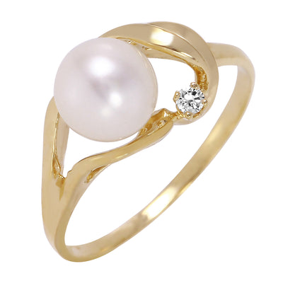 Ladies 14K Solid Gold Circle Of Friendship Opal Diamond Ring