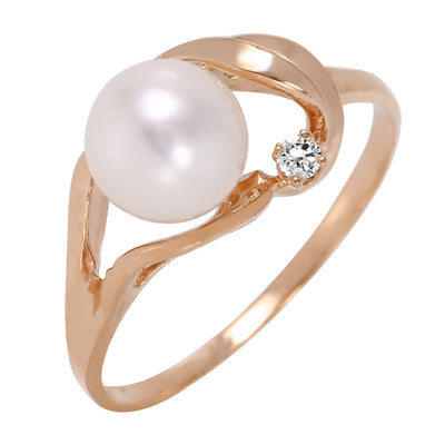 Ladies 14K Rose Gold Circle Of Friendship Opal Diamond Ring