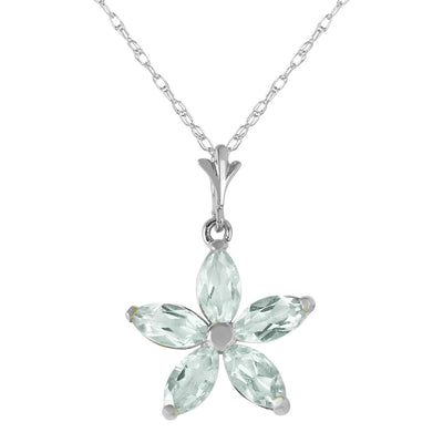 Ladies 14K White Gold Shall Be Again Green Amethyst Necklace - Fashion Strada
