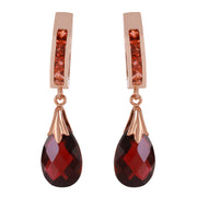 Ladies 14K Rose Gold Changeling Garnet Earrings - Fashion Strada