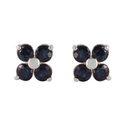 Ladies 14K White Gold Good To Be True Sapphire Earrings - Fashion Strada
