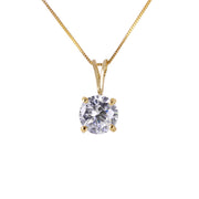 Diamond 14K Yellow Gold Ladies Necklace - Fashion Strada