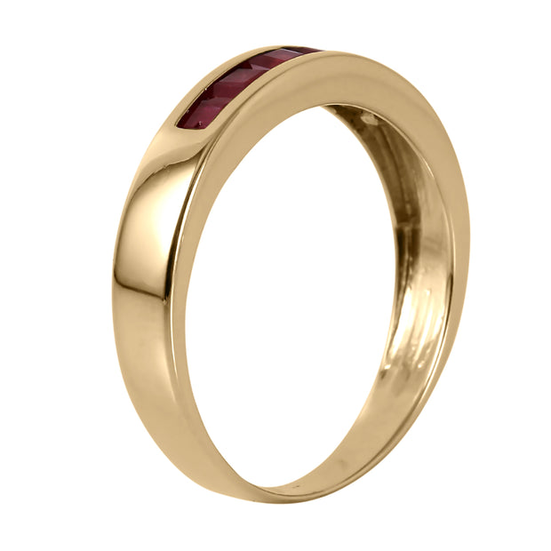 Ladies 14K Yellow Gold Summer's Miracle Ruby Ring - Fashion Strada
